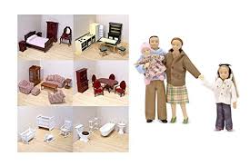 cheap dolls house furniture sets. Victorian Doll House Furniture Set Of 6 With Caucasian Family Dolls - The Complete By Cheap Sets