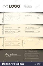 Restaurant Menus Layout Modern Dark Minimalistic Restaurant Menu Template With