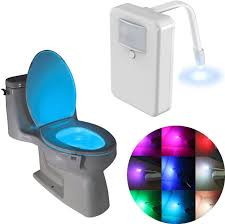 Toilet Bowl Light Toilet Light Toilet Bowl Light Led Motion Activated Toilet Night Light Potty Light 16 Colors Changing Sensor Night Light For Potty Train