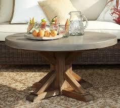 abbott concrete top round coffee table