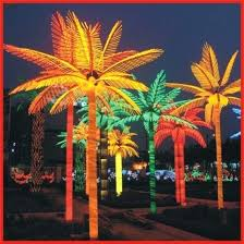 outdoor artificial led palm tree light fake trees with lights china