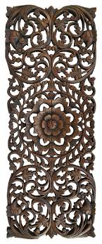 fl tropical carved wood wall panel
