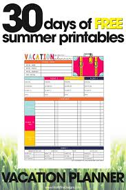 Vacation Planner Free Printable Guide For Vacation Planning