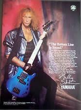 yamaha rbx 370 1989 billy sheehan yamaha rbx bass vintage music ad