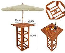 outdoor bar table wooden garden party