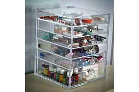 acrylic makeup organizer with drawers uk storage conner w 5 clear cube from etsy