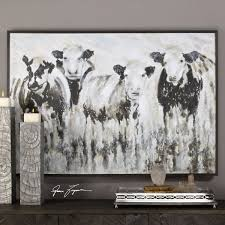 on framed western wall art with inquisitive cows framed wall art