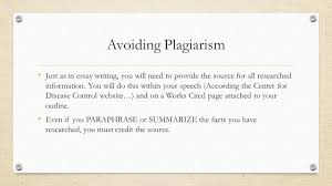informative speech public speaking guidelines minutes in avoiding plagiarism just as in essay writing you will need to provide the source for
