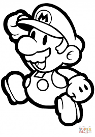Small Picture Paper Mario coloring page Free Printable Coloring Pages