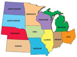 map of united states midwest region  all world maps