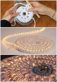 diy rope light crochet rug night lit instruction 10 handmade crochet area rug ideas