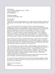 Graphic Design Cover Letter Samples Designer Resume Sample