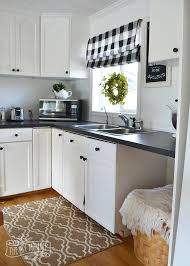 white country cottage kitchen. A Budget Friendly, Black And White Country Cottage Farmhouse Kitchen