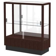 Floor Standing Display Cases Waddell Heritage FloorStanding Wood Display Case 2