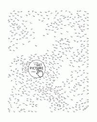 Very Hard Dot To Dot Coloring Pages For Kids Connect The Dots