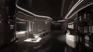 Cyberpunk Future Futuristic Interior Taurus IV Meeting Room - Futuristic home interior