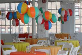 Beach Ball Decoration Ideas A cluster of hanging beach balls created a whimsical colorful 5