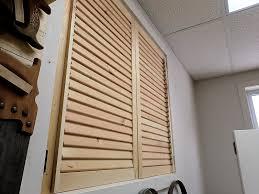 installed wooden shutters
