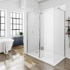 shower cubicles for small bathrooms. 8mm Walk In Shower Enclosure Pack 1400 X 900 Cubicles For Small Bathrooms E