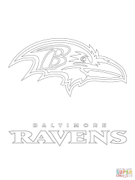 Small Picture Baltimore Ravens Logo coloring page Free Printable Coloring Pages