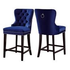 bay brunell velvet bar stools set of 2 navy stools and navy blue bar stools84