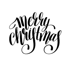 merry christmas black and white script. Contemporary White Merry Christmas Black And White Lettering Inscription Holiday Phrase  Typography With Brush Script Calligraphy On Merry Christmas Black And White Script 123RFcom
