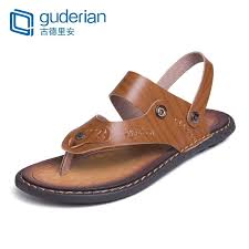 <b>GUDERIAN</b> Flip Flops Man Summer Leather <b>Sandals Men</b> Casual ...