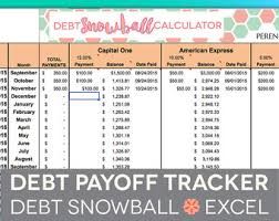 Debt Tracker Spreadsheet Debt Tracker Etsy