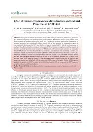 Pdf Effect Of Subzero Treatment On Microstructure And