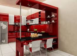 Mini Kitchen Bar Design Cool Mini Bar Designs For Small Kitchen With Red Color