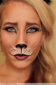 diy kitty cat makeup via s