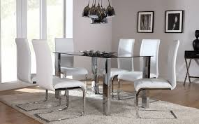 the orion perth gl chrome dining set white at furniture choice furniturechoice co uk dining room furniture dining tables and chairs