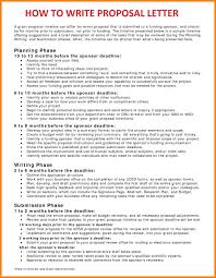 8 Proposal Letter Template Word Synopsis Format
