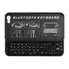 Thin Wireless Sliding Keyboard Case for iPhone 5S 5 Black