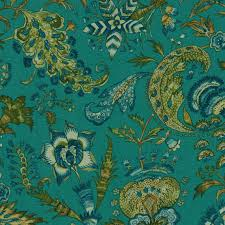 Small Picture Teal Linen Upholstery Fabric by the Yard Dark Teal and Peacock
