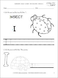 Letter Practicing Printable Handwriting Worksheet Alphabet Worksheets Letter I