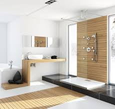 Accent Wall Bathroom Bathroom Fantastic Walk In Shower With Wooden Accent Wall Idea