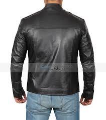 cafe racer leather jacket lambskin leather jacket mens