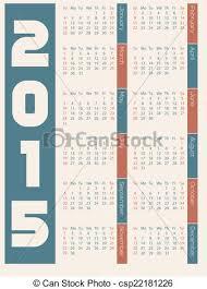 Simple 2015 Calendar Simple 2015 Calendar Design On Light Background