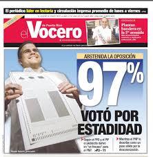 Resultado de imagen para plebiscito en puerto rico 2017