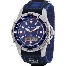 "sports watches fitness gps trackers watch shop comâ""¢ mens kahuna velcro chronograph watch k5v 0005g"