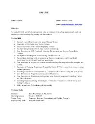 Database Testing Resumes Narmesh 3 Yrs Manual Testing Resume