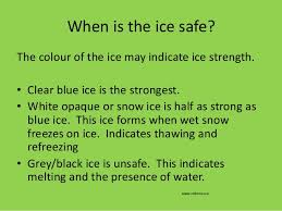 Ice Depth Safety Chart Water And Ice_safety_part_2