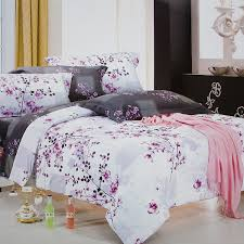 plum in snow luxury 5pc comforter set combo 300gsm queen size