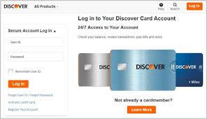 Discover Credit Card Login Info Instructions