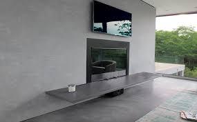 custom concrete fireplace surrounds