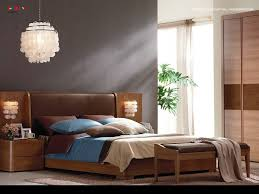 ideas charming bedroom furniture design. Charming Bedroom Interior Leather Headboard Dark Neutral Accent Wall Unique  White Pendant Lamp Bench Cushion Finished Wooden Furniture Small Plant Ideas Charming Bedroom Furniture Design