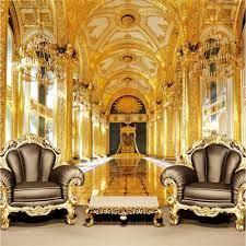 Wall Mural 3D Royal Palace Gold Custom ...
