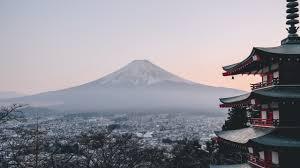 Mount Fuji City Japan Landscape Scenery 8k Wallpaper 169