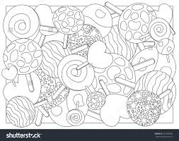 Small Picture Coloring Page Lollipops Vector Illustration Lollipop Stock Vector
